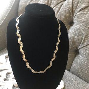 Trifari Silver Tone Necklace Vintage